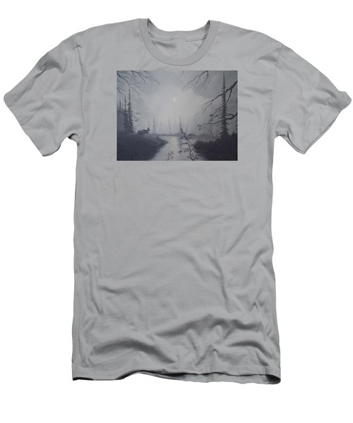Men's T-Shirt (Slim Fit) featuring the painting Moose Swanson River Alaska by Richard Faulkner