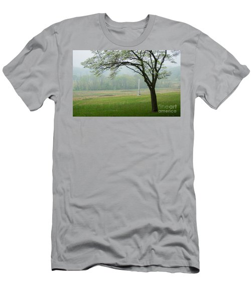 Men's T-Shirt (Slim Fit) featuring the photograph Morning Fog At The Monument by Rima Biswas