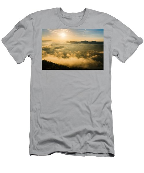 Morning Fog In The Saxon Switzerland Men's T-Shirt (Athletic Fit)