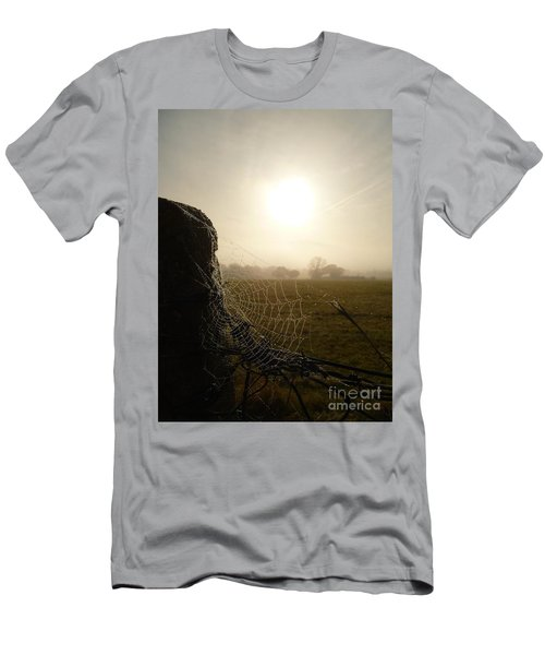 Men's T-Shirt (Slim Fit) featuring the photograph Morning Mist by Vicki Spindler