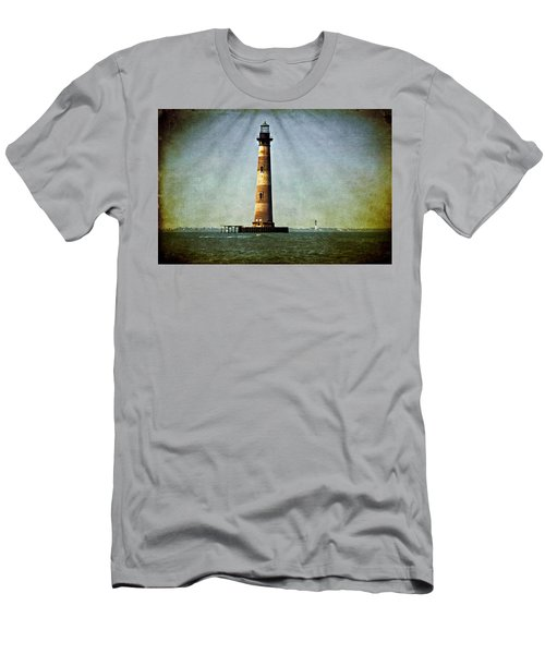 Morris Island Light Vintage Color Uncropped Men's T-Shirt (Athletic Fit)