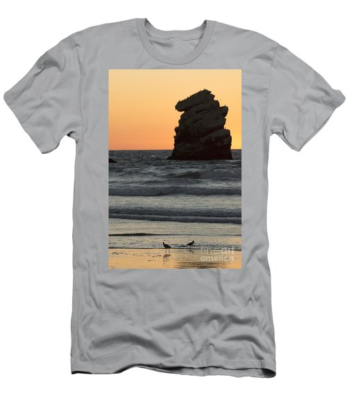 Morro Beach Sunset Men's T-Shirt (Athletic Fit)