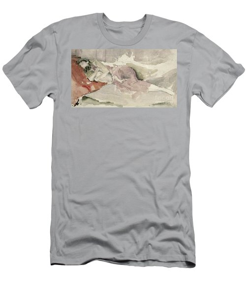 Mother And Child On A Couch Men's T-Shirt (Athletic Fit)