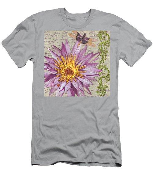 Moulin Floral 1 Men's T-Shirt (Athletic Fit)