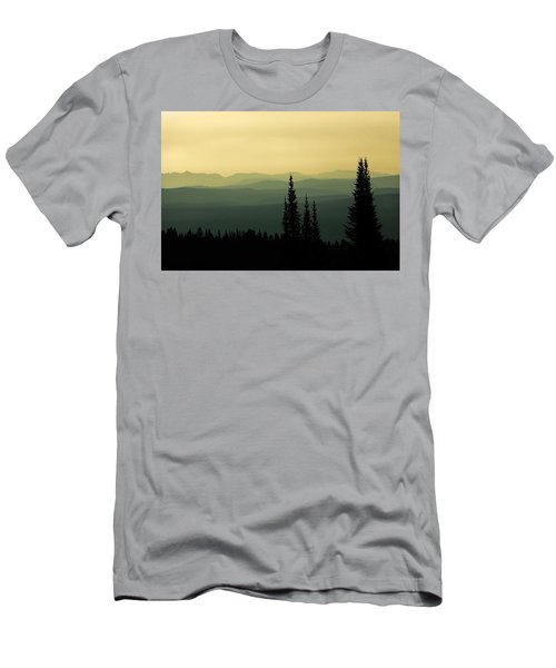 Mount Washburn Mist Men's T-Shirt (Athletic Fit)