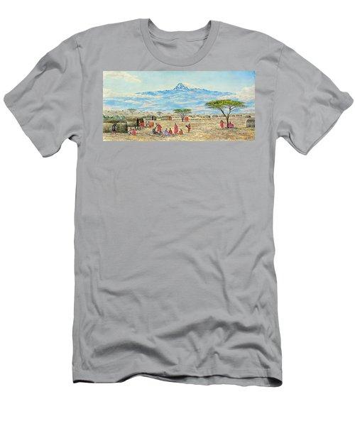 Mountain Village Men's T-Shirt (Athletic Fit)