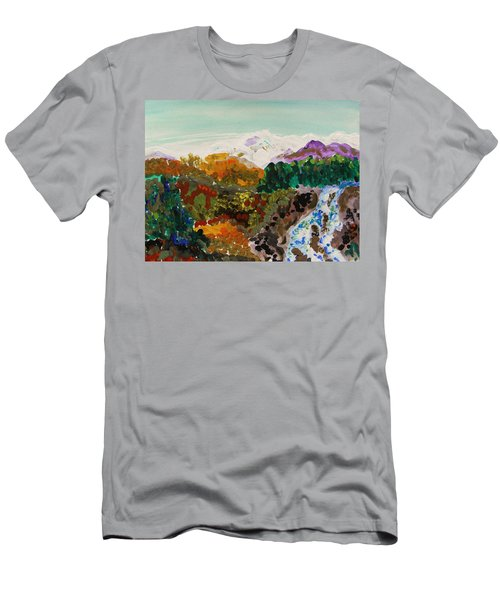 Mountain Water Men's T-Shirt (Slim Fit) by Mary Carol Williams