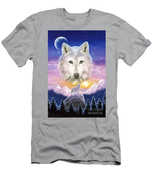 Mountain Wolf Men's T-Shirt (Athletic Fit)