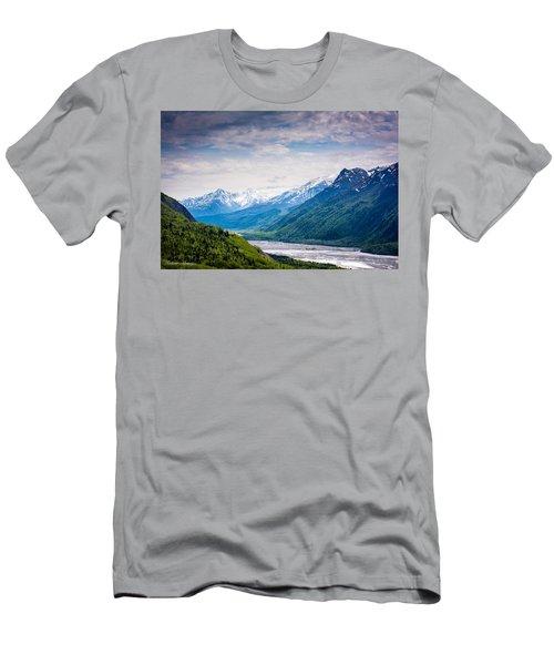 Mountains Along Seward Highway Men's T-Shirt (Athletic Fit)