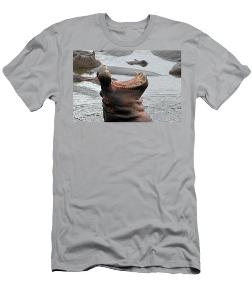 Mouth Wide Open Men's T-Shirt (Athletic Fit)