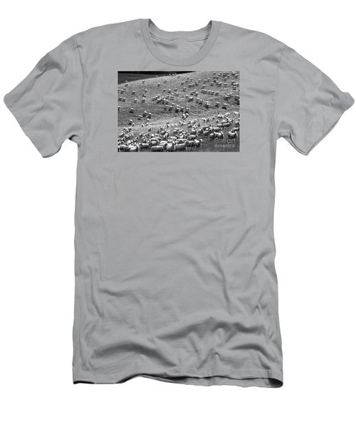 Men's T-Shirt (Slim Fit) featuring the photograph Moving Hillside by Nareeta Martin
