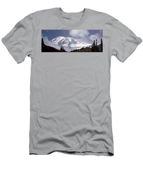 Men's T-Shirt (Slim Fit) featuring the photograph Mt Rainier  by Greg Reed