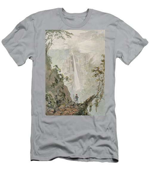 Murichom To Choka, 1783 Wc With Pen & Ink Over Graphite On Paper Men's T-Shirt (Athletic Fit)