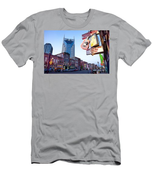 Men's T-Shirt (Athletic Fit) featuring the photograph Music City Usa by Brian Jannsen