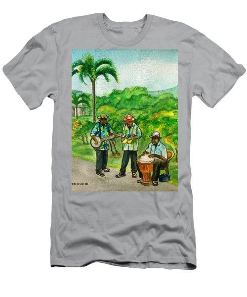 Musicians On Island Of Grenada Men's T-Shirt (Slim Fit) by Frank Hunter