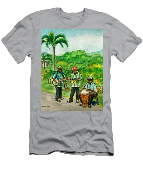 Musicians On Island Of Grenada Men's T-Shirt (Athletic Fit)