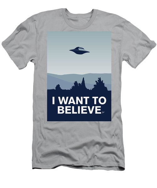 My I Want To Believe Minimal Poster-xfiles Men's T-Shirt (Athletic Fit)