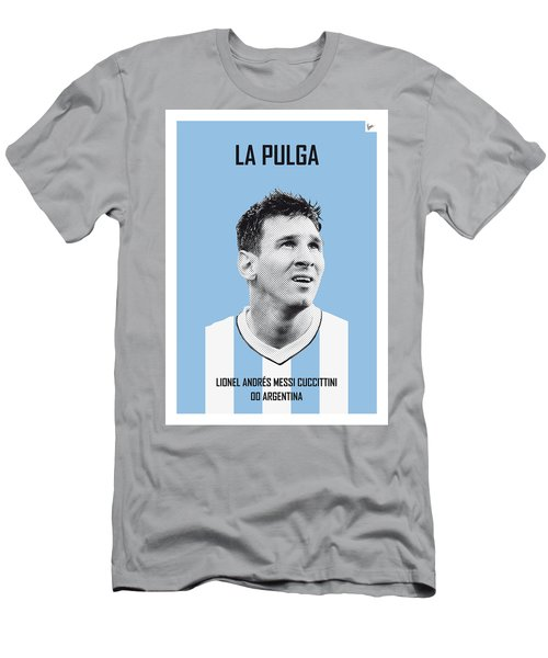 My Messi Soccer Legend Poster Men's T-Shirt (Athletic Fit)