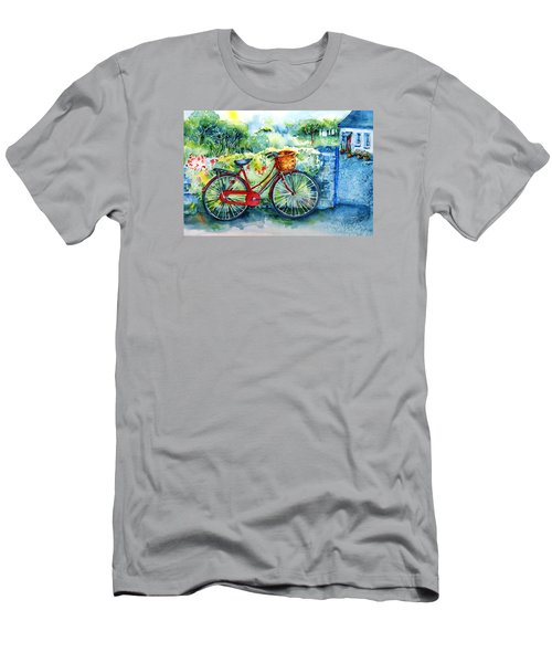 My Red Bicycle Men's T-Shirt (Slim Fit) by Trudi Doyle