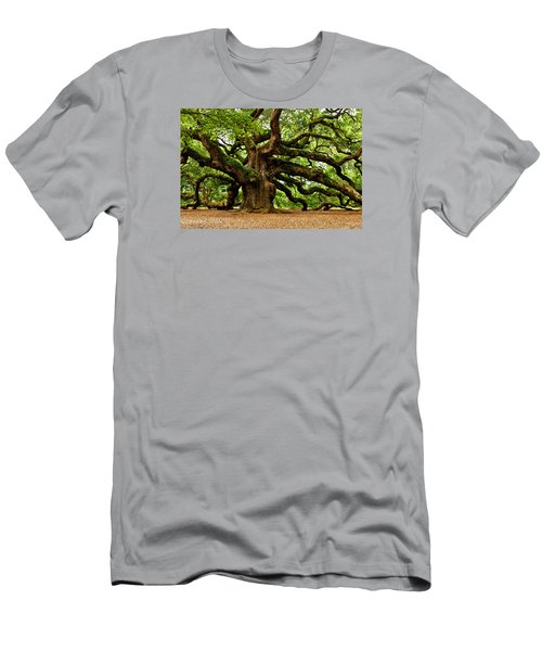 Mystical Angel Oak Tree Men's T-Shirt (Athletic Fit)