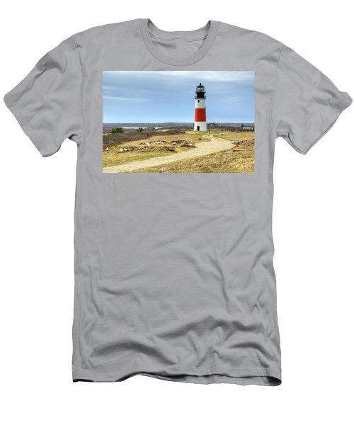 Nantucket's Sankaty Head Light Men's T-Shirt (Athletic Fit)