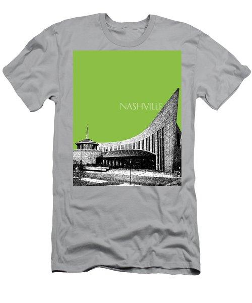 Nashville Skyline Country Music Hall Of Fame - Olive Men's T-Shirt (Athletic Fit)