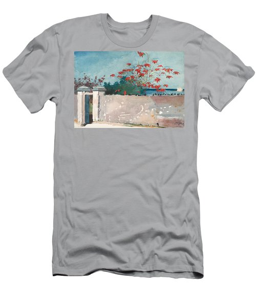 Nassau Bahamas Men's T-Shirt (Slim Fit) by Winslow Homer