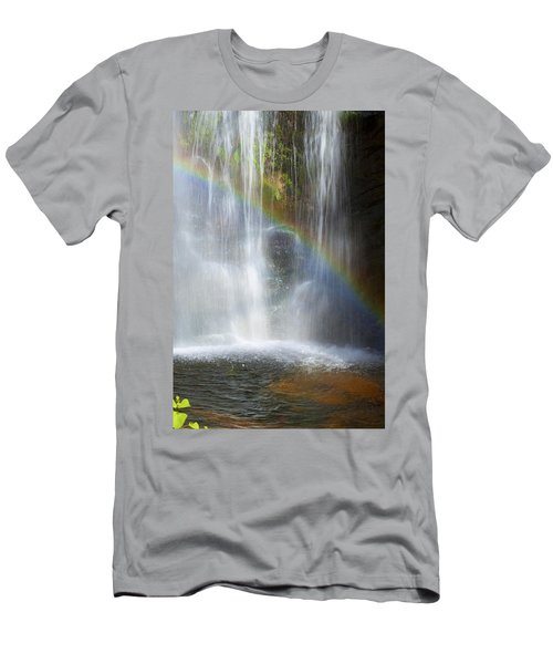 Men's T-Shirt (Slim Fit) featuring the photograph Natures Rainbow Falls by Jerry Cowart