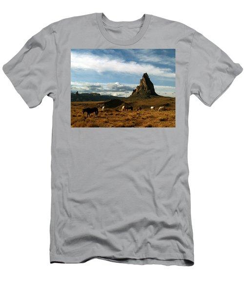Navajo Horses At El Capitan Men's T-Shirt (Athletic Fit)