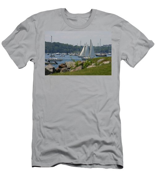 Men's T-Shirt (Slim Fit) featuring the photograph New England Seascape by Denyse Duhaime