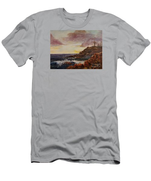 Men's T-Shirt (Slim Fit) featuring the painting New England Storm by Lee Piper