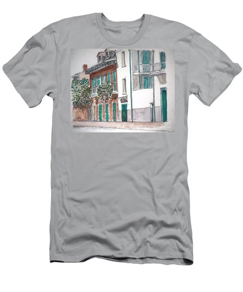 New Orleans Gov. Nichols And Royal St Men's T-Shirt (Athletic Fit)