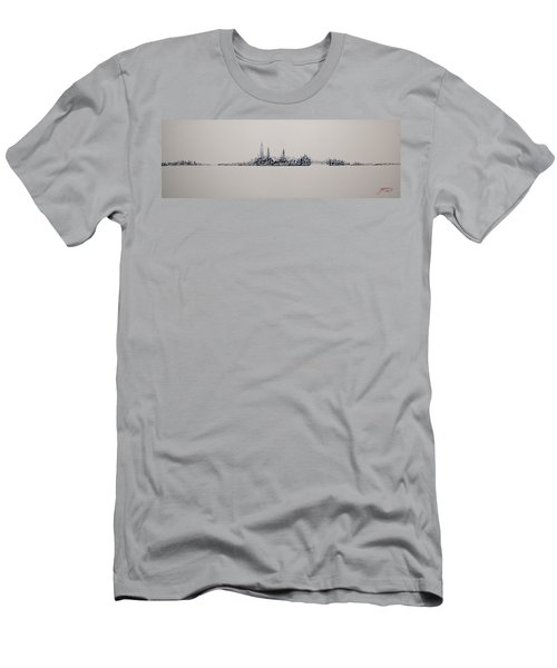 New York City 2013 Skyline 20x60 Men's T-Shirt (Slim Fit)