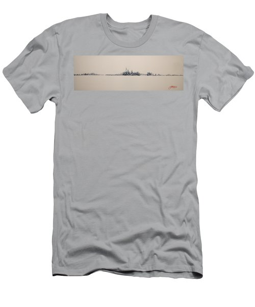 New York City Skyline 15x45 2013 Men's T-Shirt (Athletic Fit)