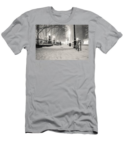 New York City Winter Night Men's T-Shirt (Athletic Fit)