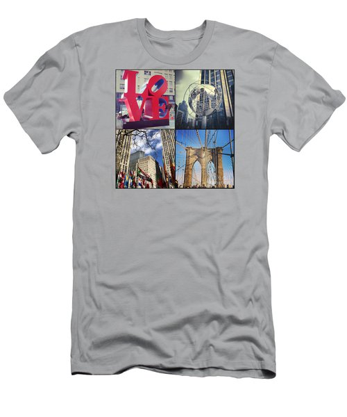 Men's T-Shirt (Slim Fit) featuring the photograph New York Sights  by Kerri Farley