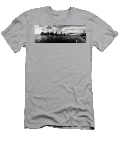 New York Skyline Men's T-Shirt (Athletic Fit)