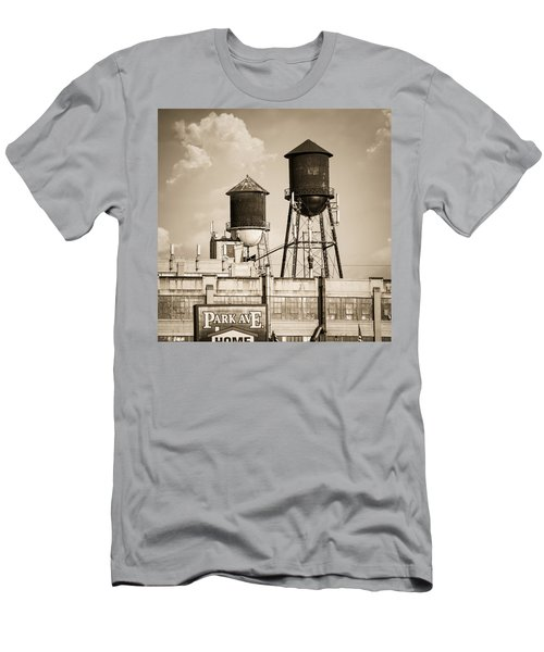New York Water Tower 8 - Williamsburg Brooklyn Men's T-Shirt (Athletic Fit)