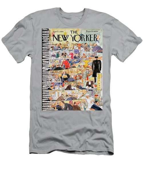 New Yorker April 2 1938 Men's T-Shirt (Athletic Fit)