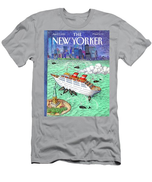 New Yorker April 9th, 1990 Men's T-Shirt (Athletic Fit)