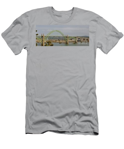 Newport Bay Bridge Men's T-Shirt (Slim Fit) by Susan Garren