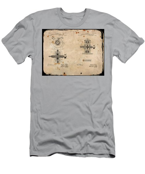 Nikola Tesla's Alternating Current Generator Patent 1891 Men's T-Shirt (Athletic Fit)