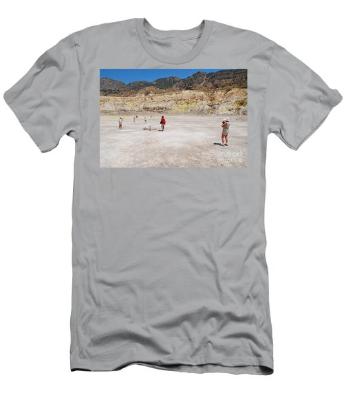 Nisyros Volcano Greece Men's T-Shirt (Athletic Fit)