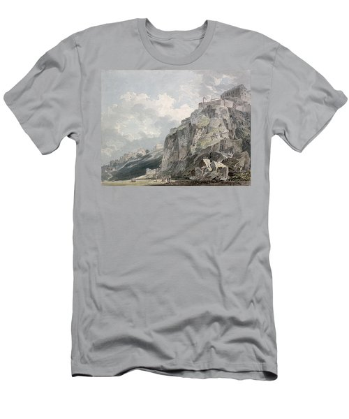 No.1187 The Castle Rock, Edinburgh Men's T-Shirt (Athletic Fit)