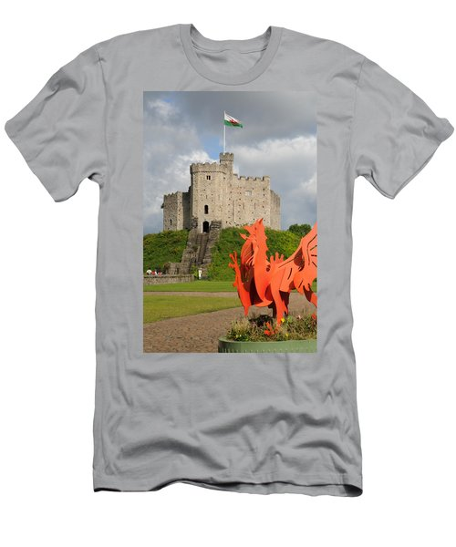 Men's T-Shirt (Slim Fit) featuring the photograph Norman Keep Cardiff Castle by Jeremy Voisey