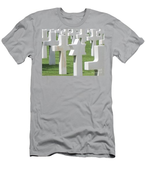Normandy American Cemetery Men's T-Shirt (Slim Fit) by HEVi FineArt