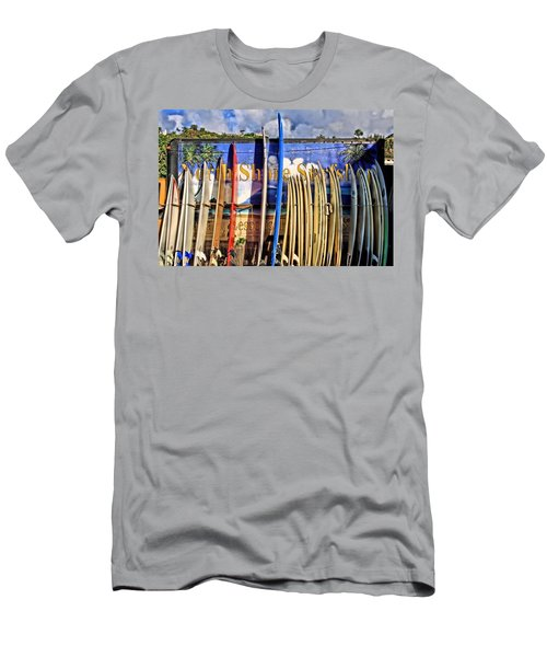 North Shore Surf Shop Men's T-Shirt (Slim Fit) by DJ Florek