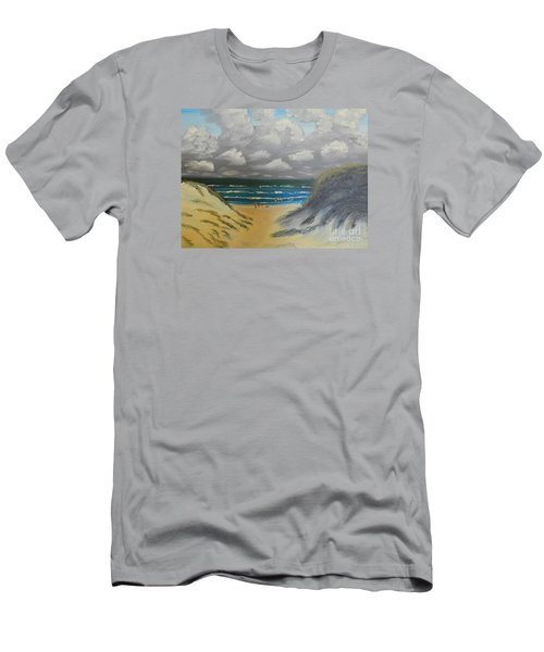 Men's T-Shirt (Slim Fit) featuring the painting North Windang Beach by Pamela  Meredith