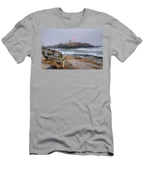 Nubble Lighthouse View Men's T-Shirt (Athletic Fit)