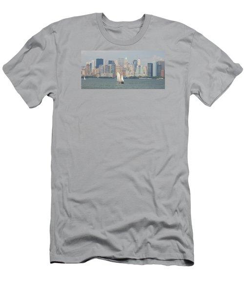 Ny City Skyline Men's T-Shirt (Slim Fit)